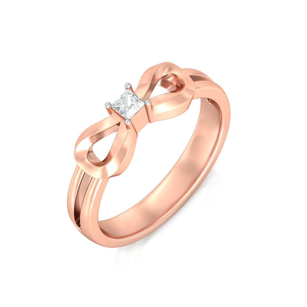 Rose Loop Gemstone Rings