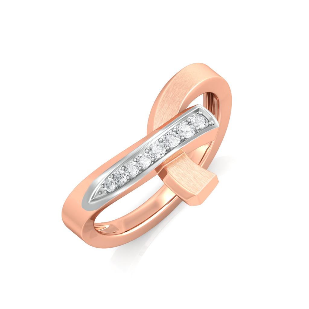Ribbon Loop Diamond Rings
