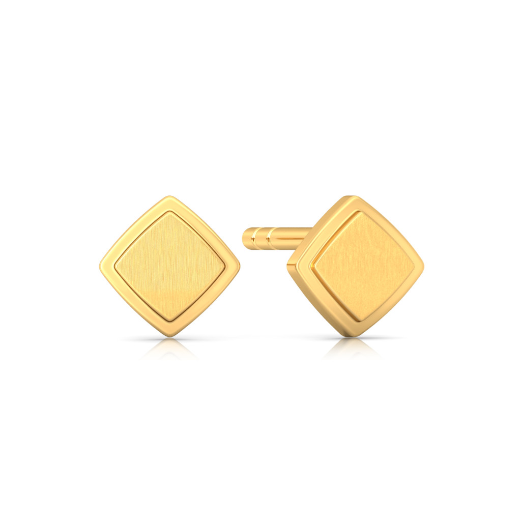 Evergreen sheen Gold Earrings