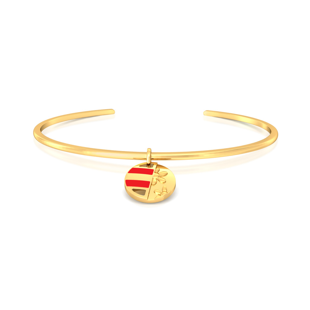 Opposites attract  Gold Bangles