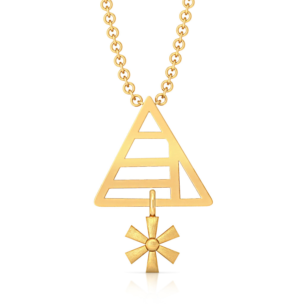Multifaceted Gold Pendants