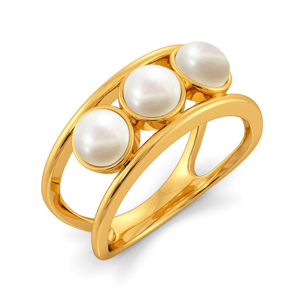 Dot the Line Gemstone Rings