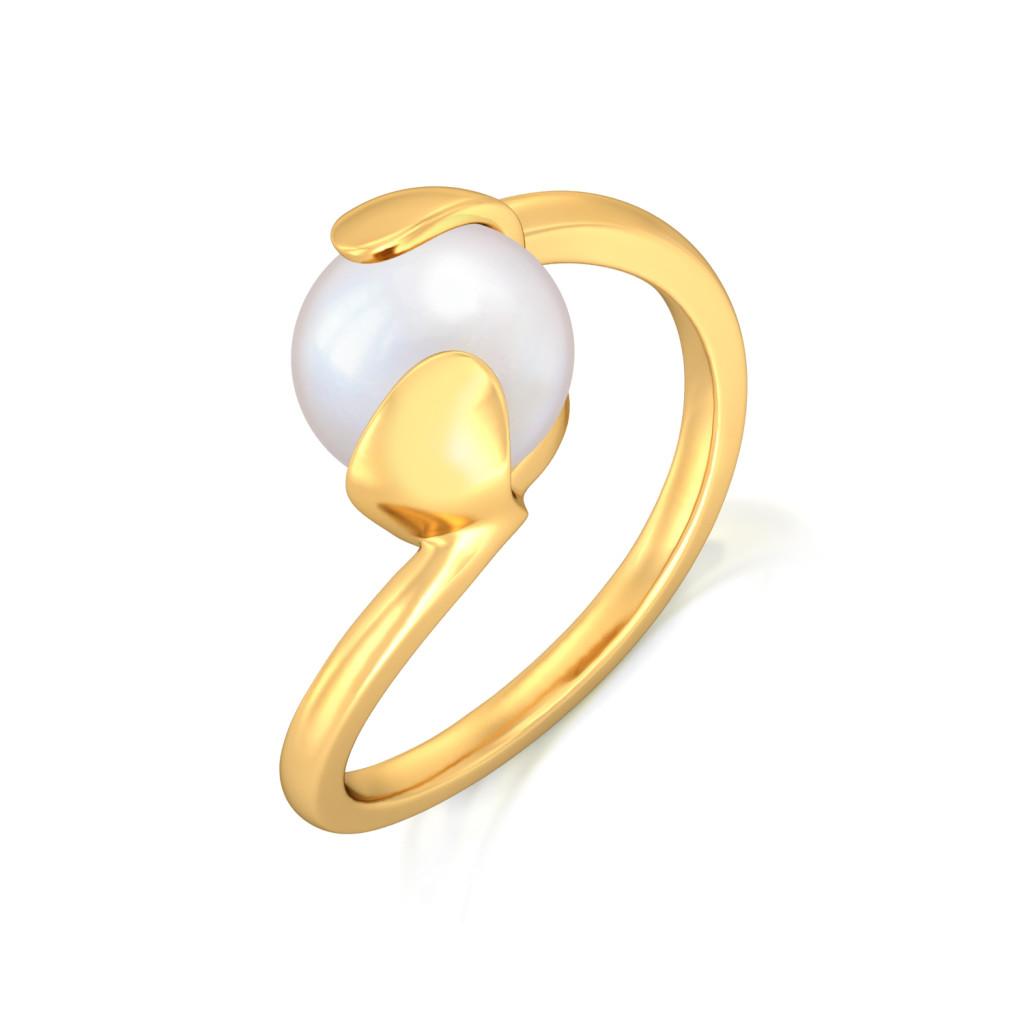 Bijou Boomerang Gemstone Rings