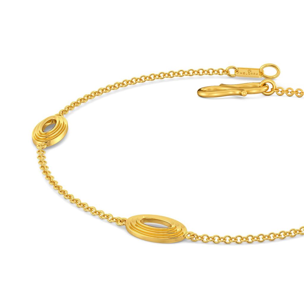 Crimp & Crease Gold Bracelets