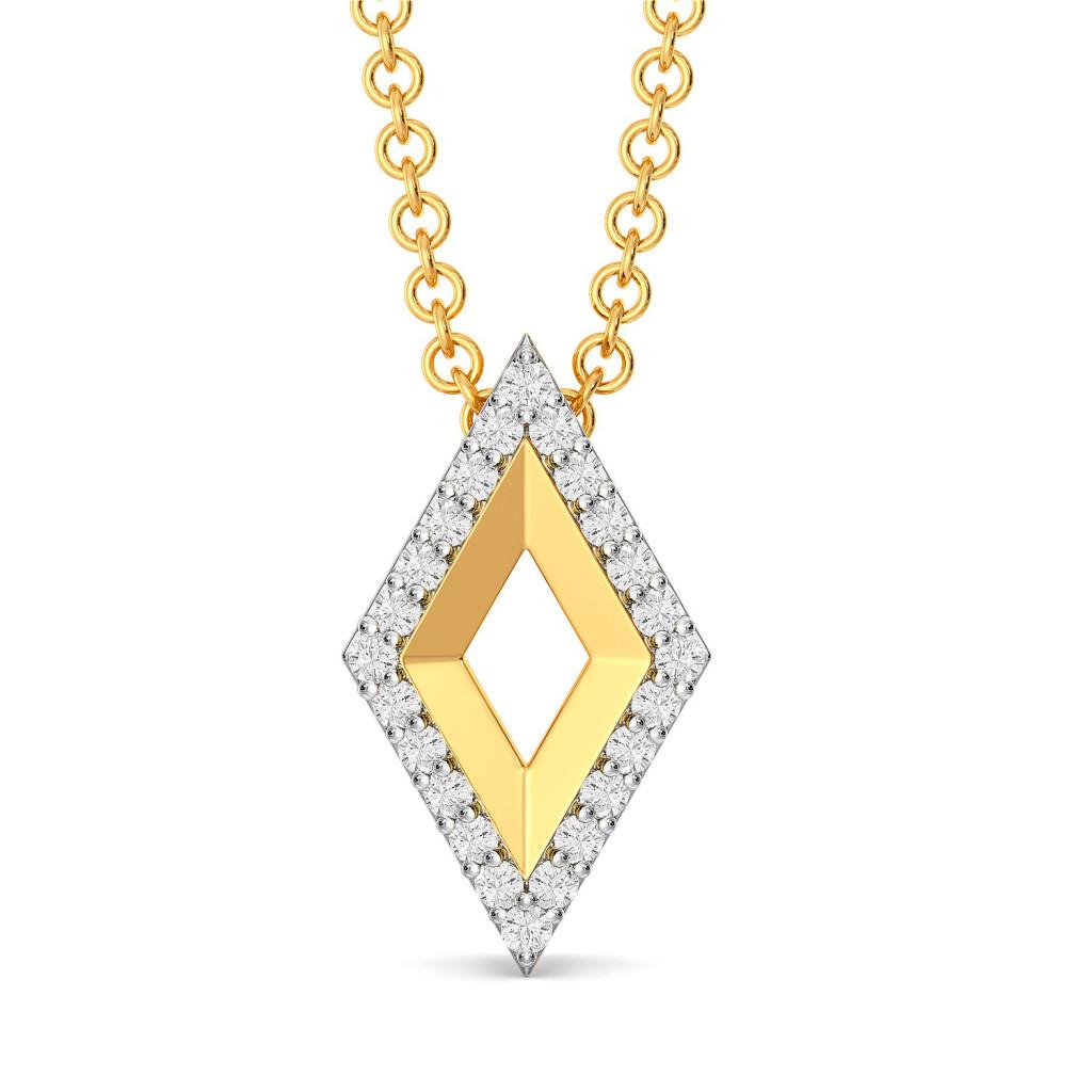 Fluff N Fold Diamond Pendants