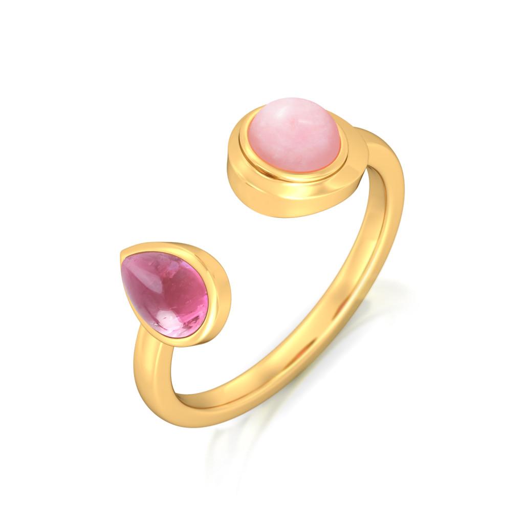 Tickle Me Pink Gemstone Rings