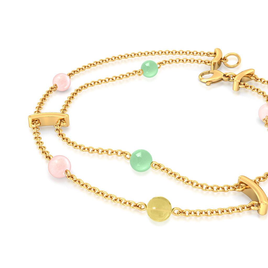 Cassatta Cream  Gemstone Bracelets