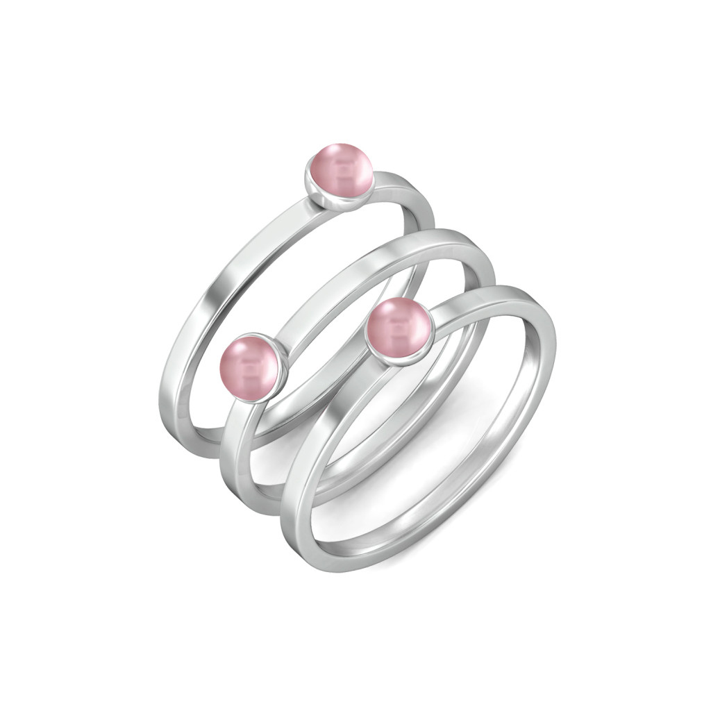 Dots & Dashes Gemstone Rings