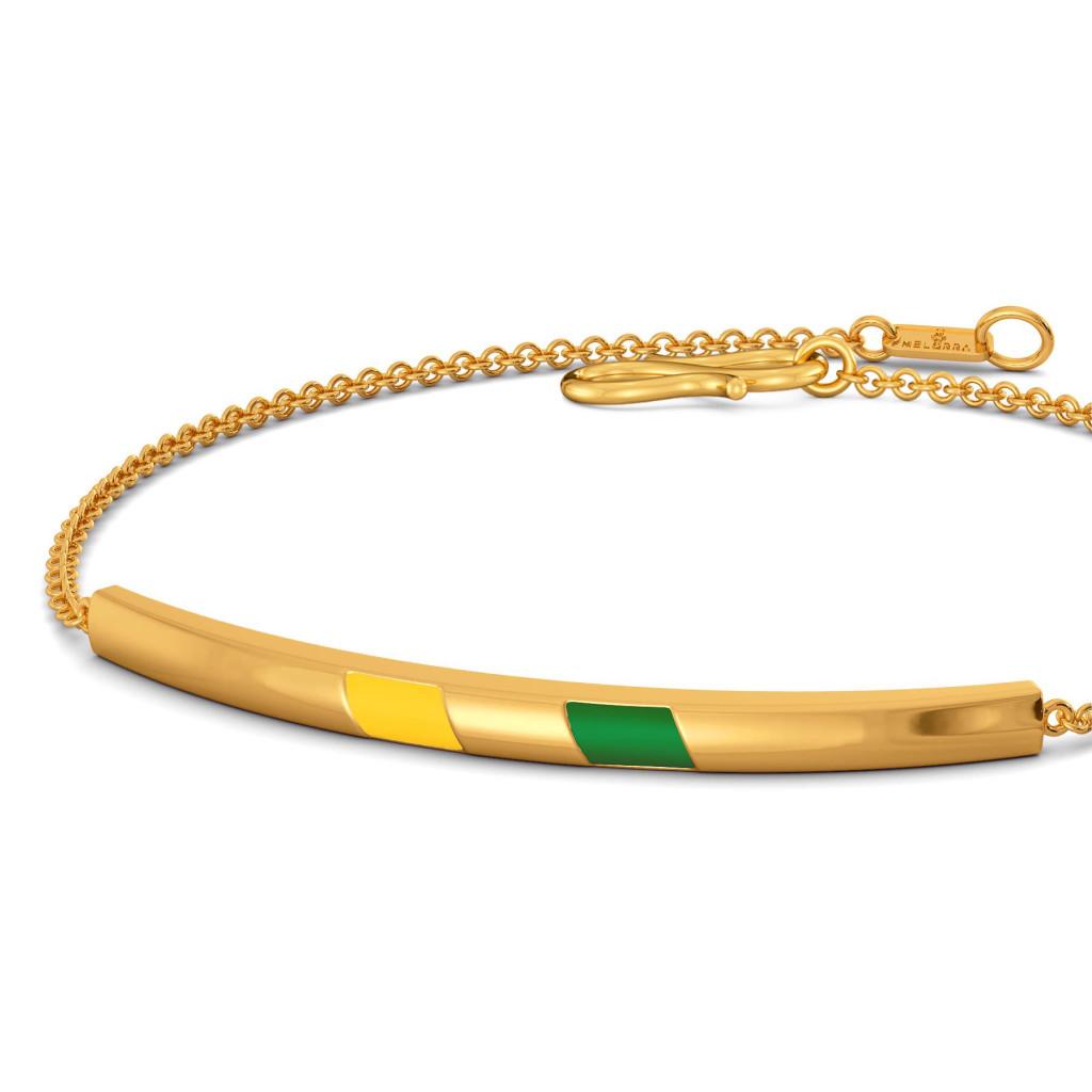 Varsity Greens Gold Bracelets