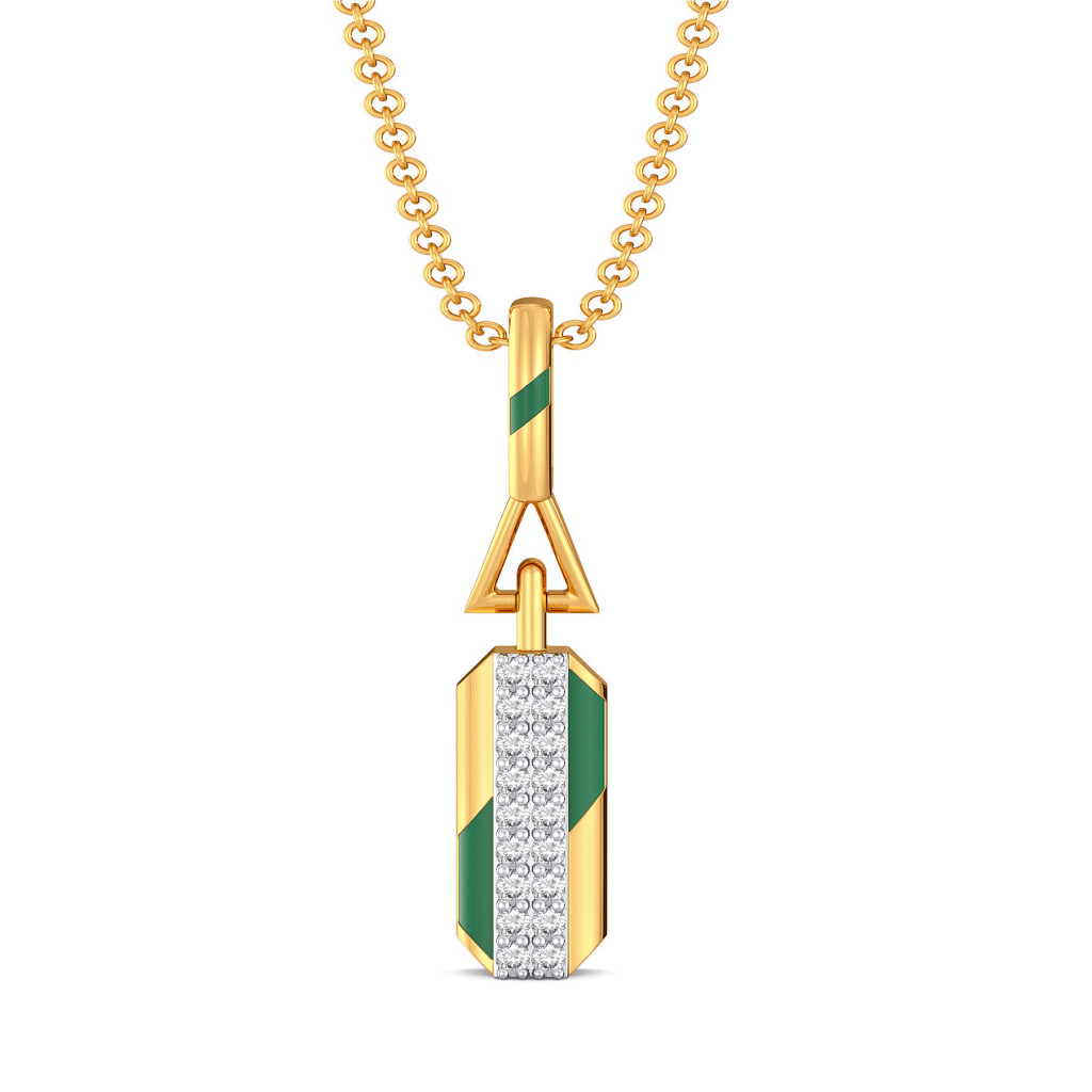 Green Parades Diamond Pendants