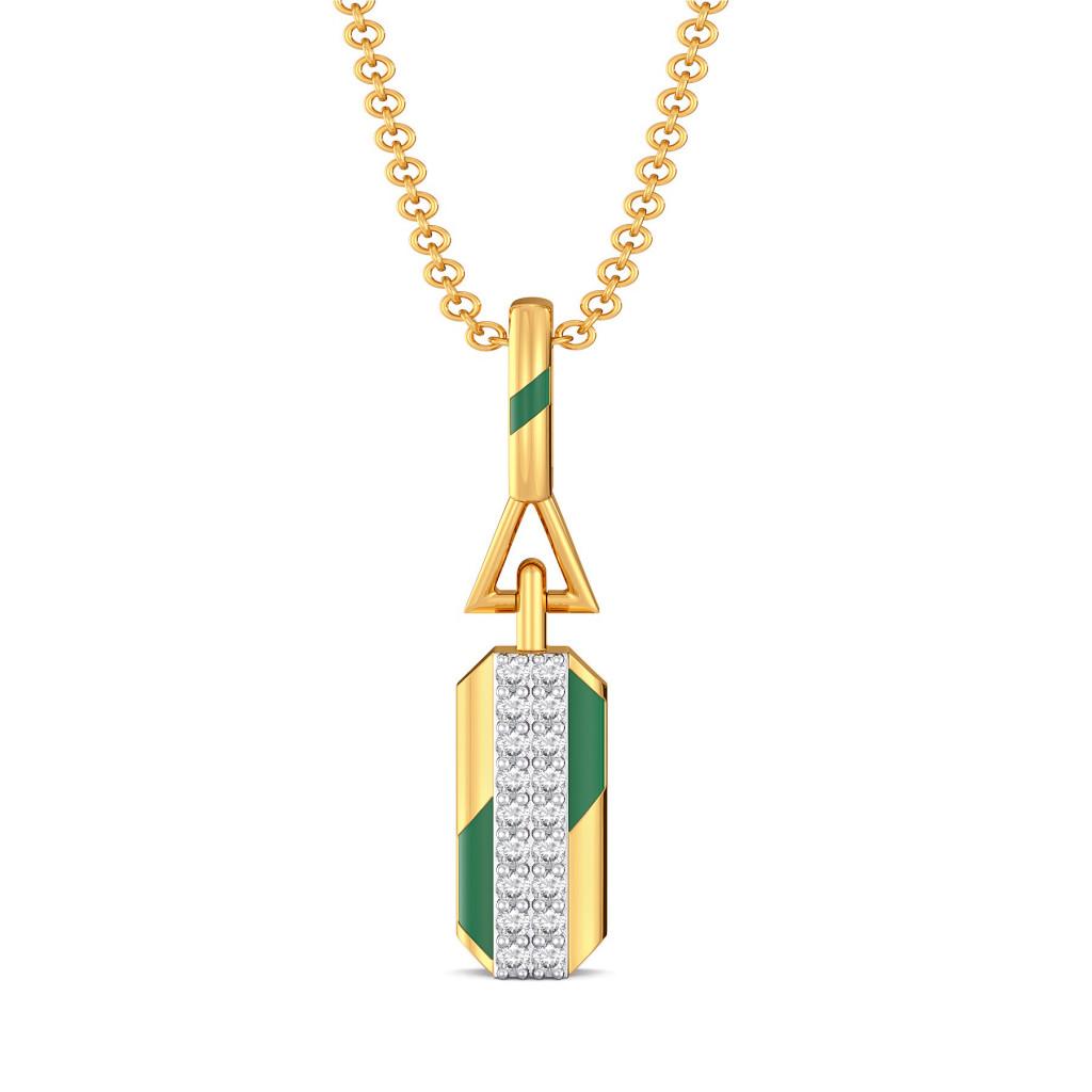 Green Parades Diamond Pendants
