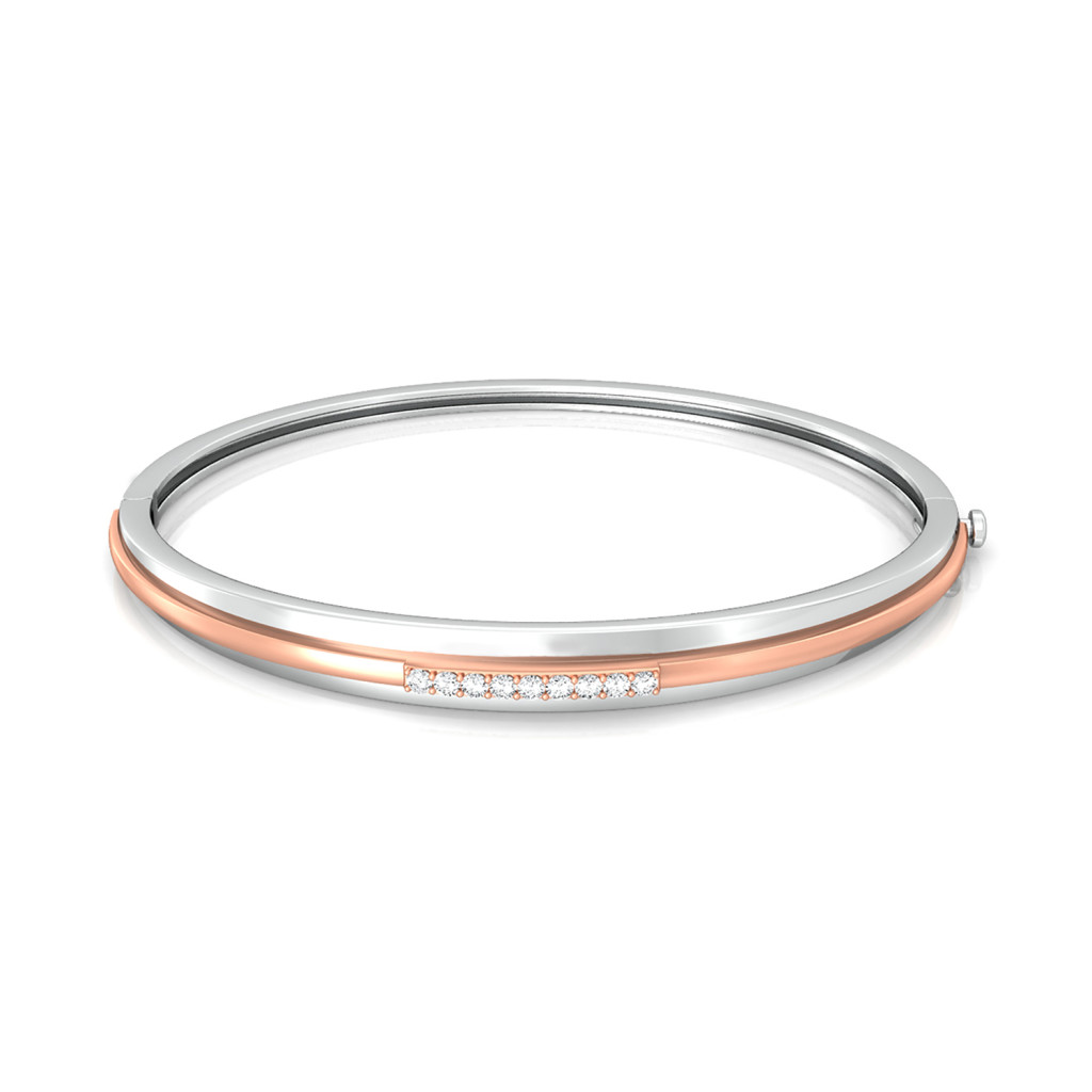 Orbital Pink Diamond Bangles
