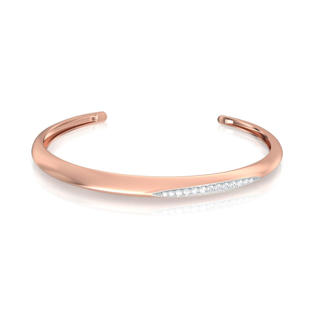 P-incline Diamond Bangles