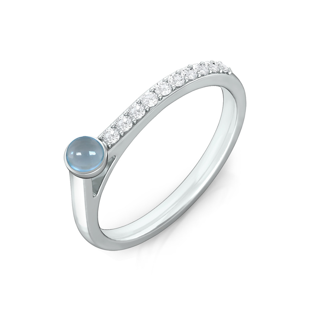 Arctic blue Diamond Rings