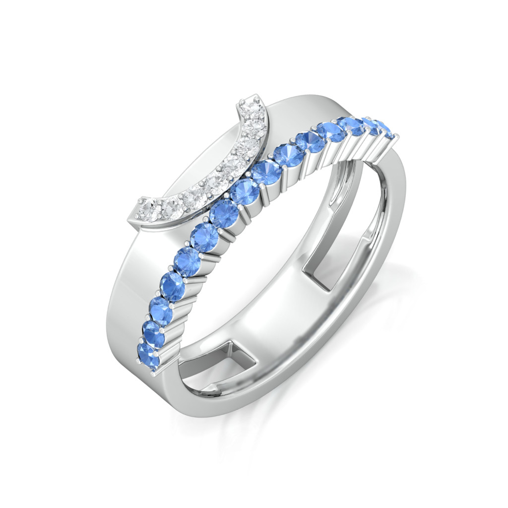 Blue lagoon Diamond Rings