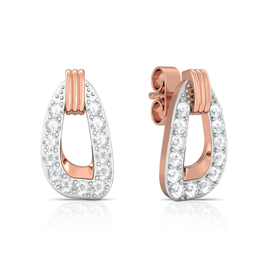 Tickled pink Diamond Earrings
