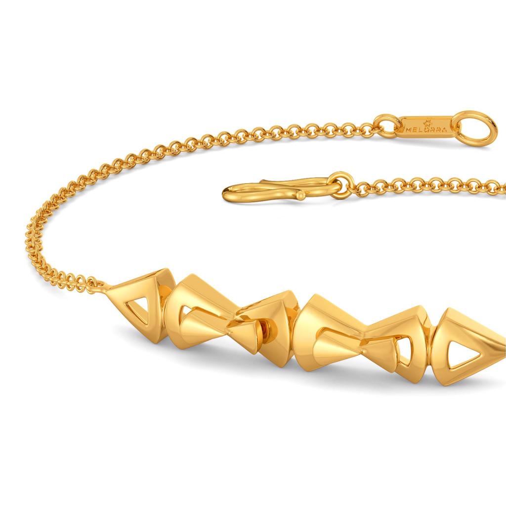 Bow Toned Gold Bracelets