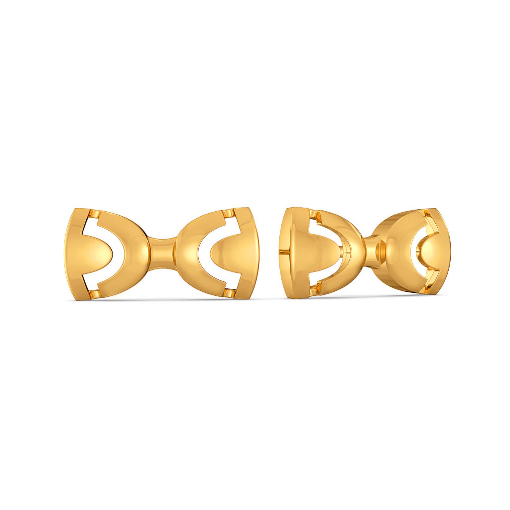 Rebel Bows Gold Earrings