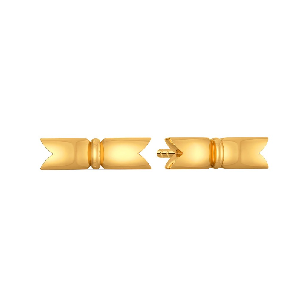 The Rule of Bow Gold Earrings