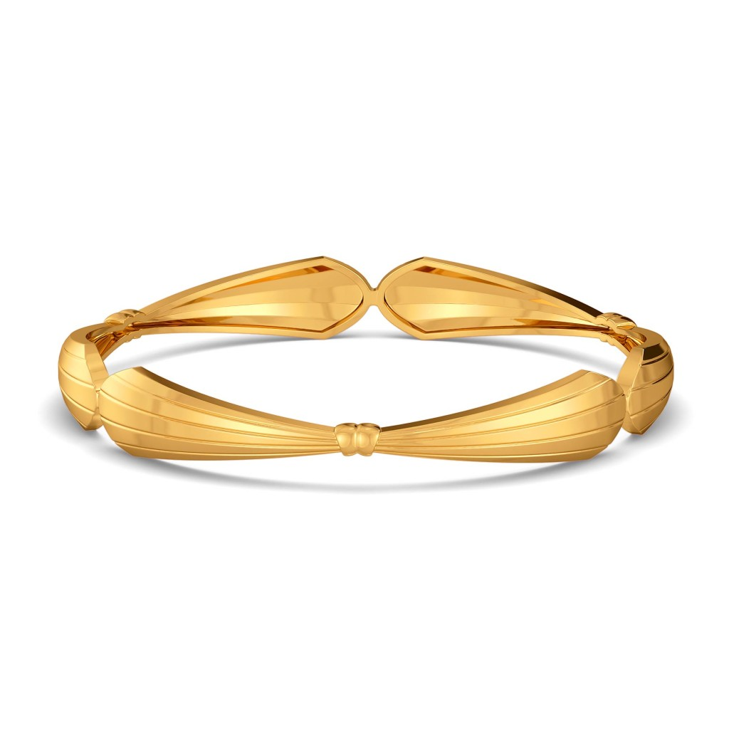 Bow Boggled Gold Bangles