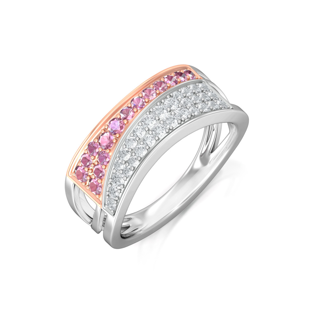 Pink-Folded Diamond Rings