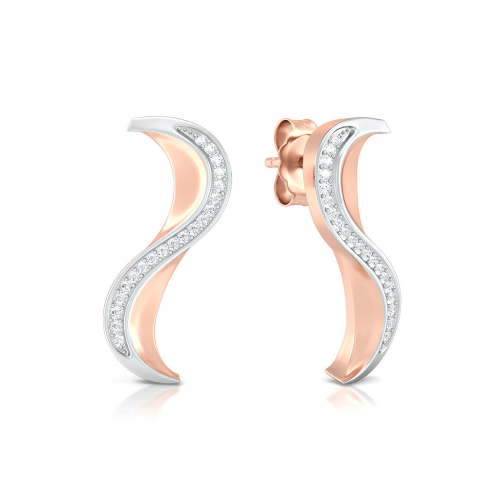Peaks & Valleys Diamond Earrings