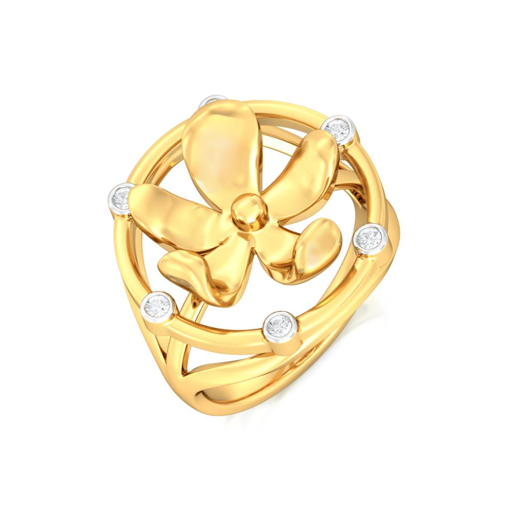 Floral Wreath Diamond Rings