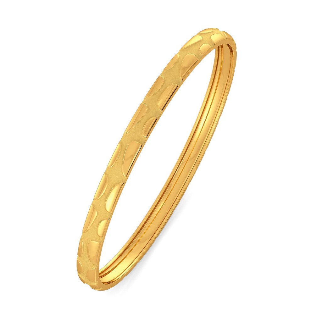 Curl Unfurl II Gold Bangles