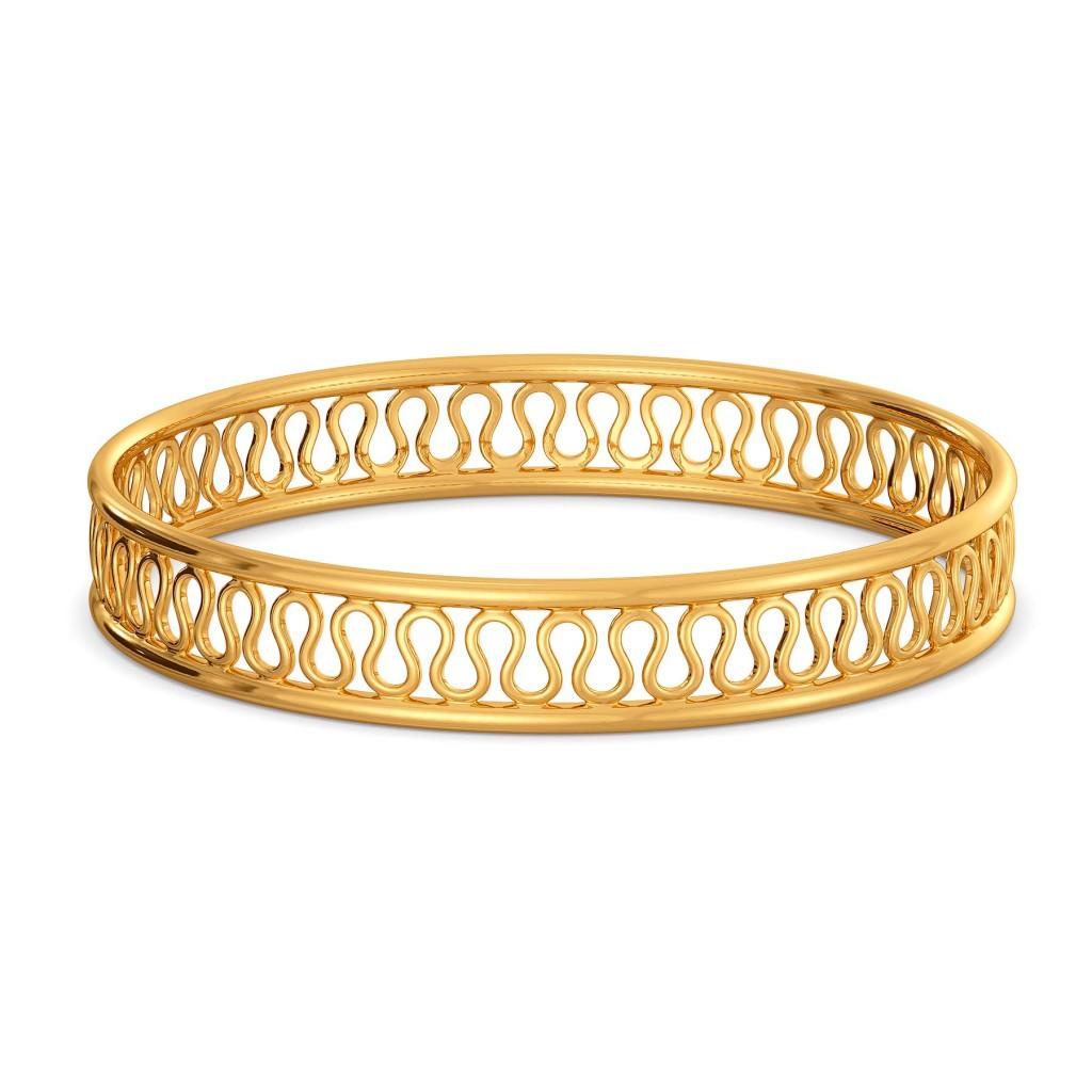 Knit Trivia Gold Bangles
