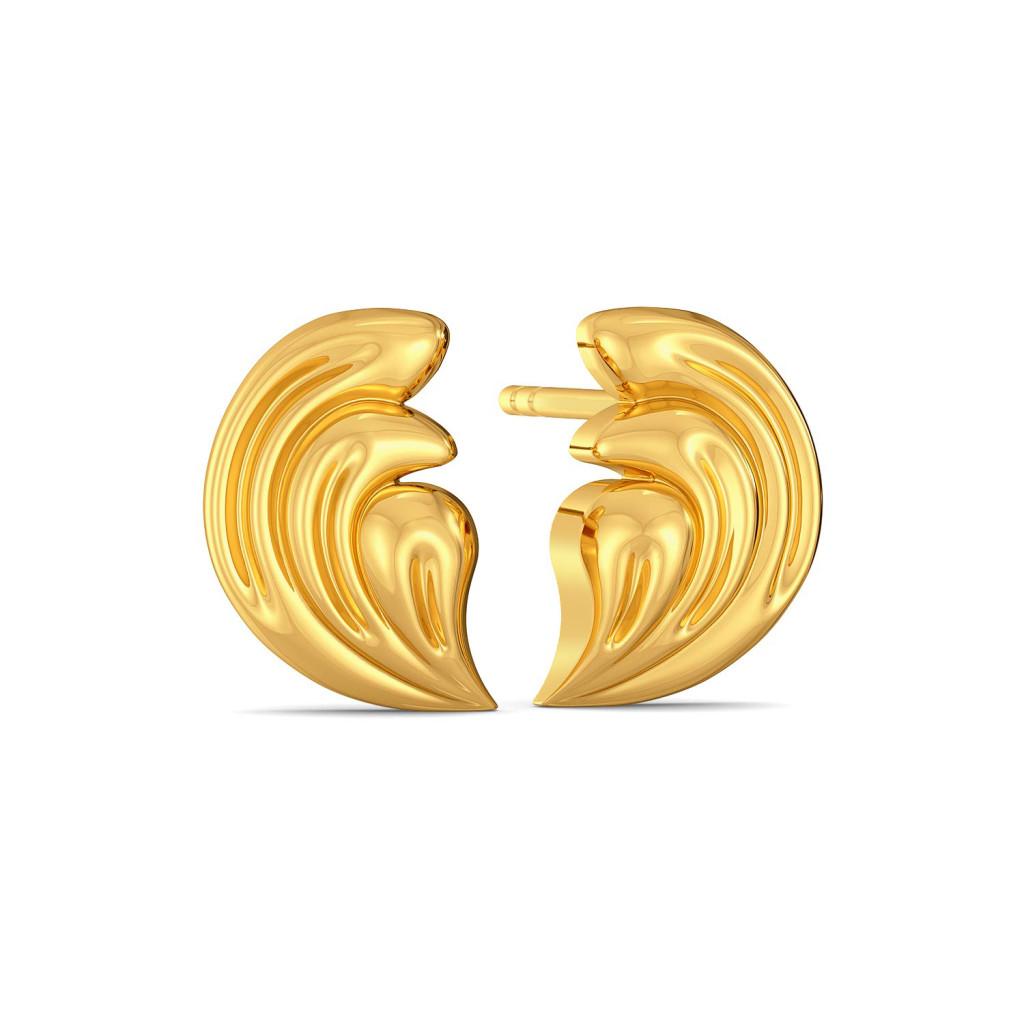 Curly Beach Gold Earrings