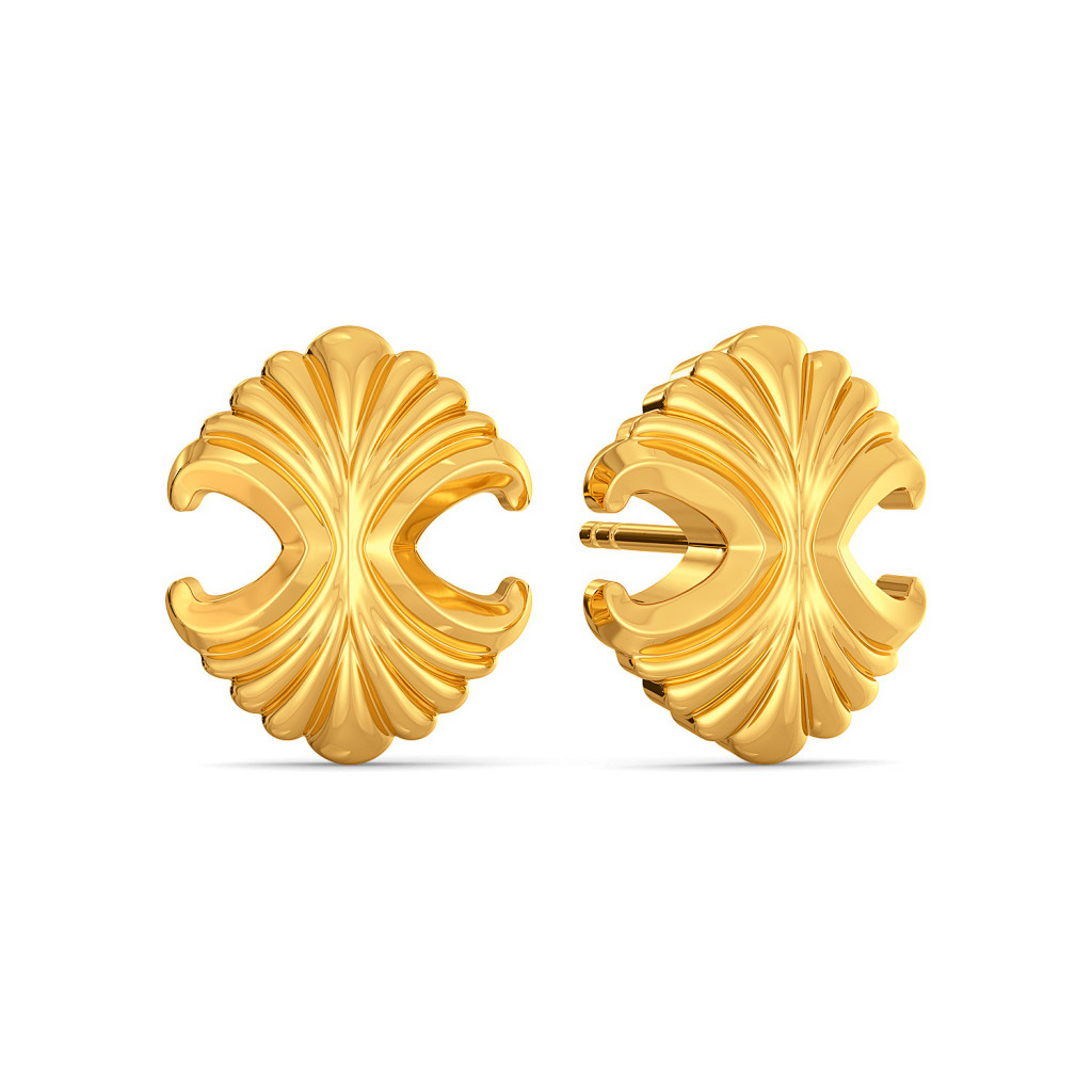 Romanesque Gold Earrings