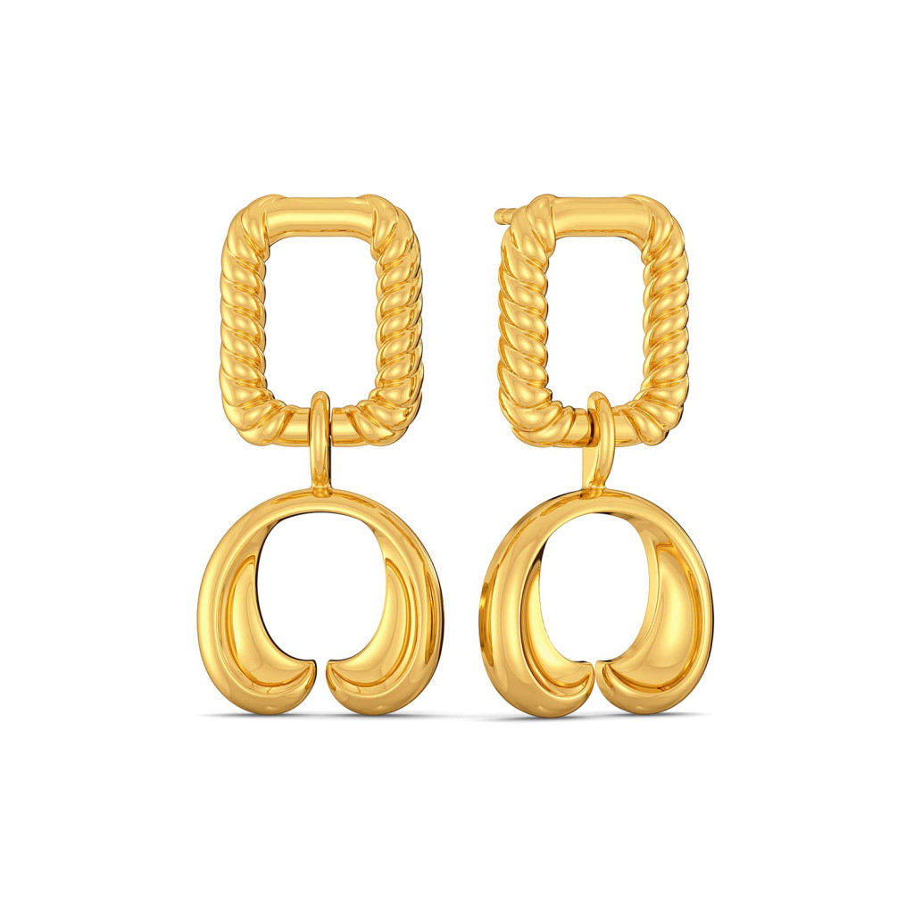 Rosette Fields Gold Earrings