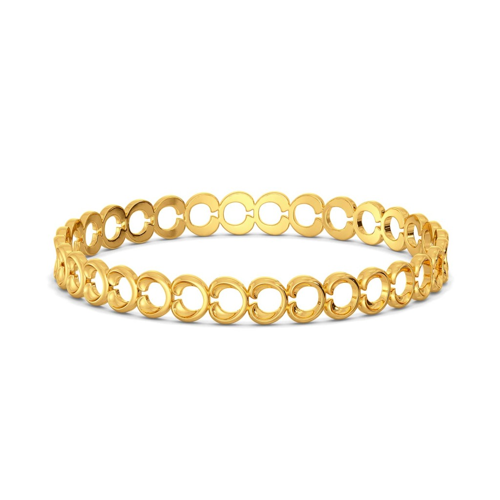 Rosette Fields Gold Bangles