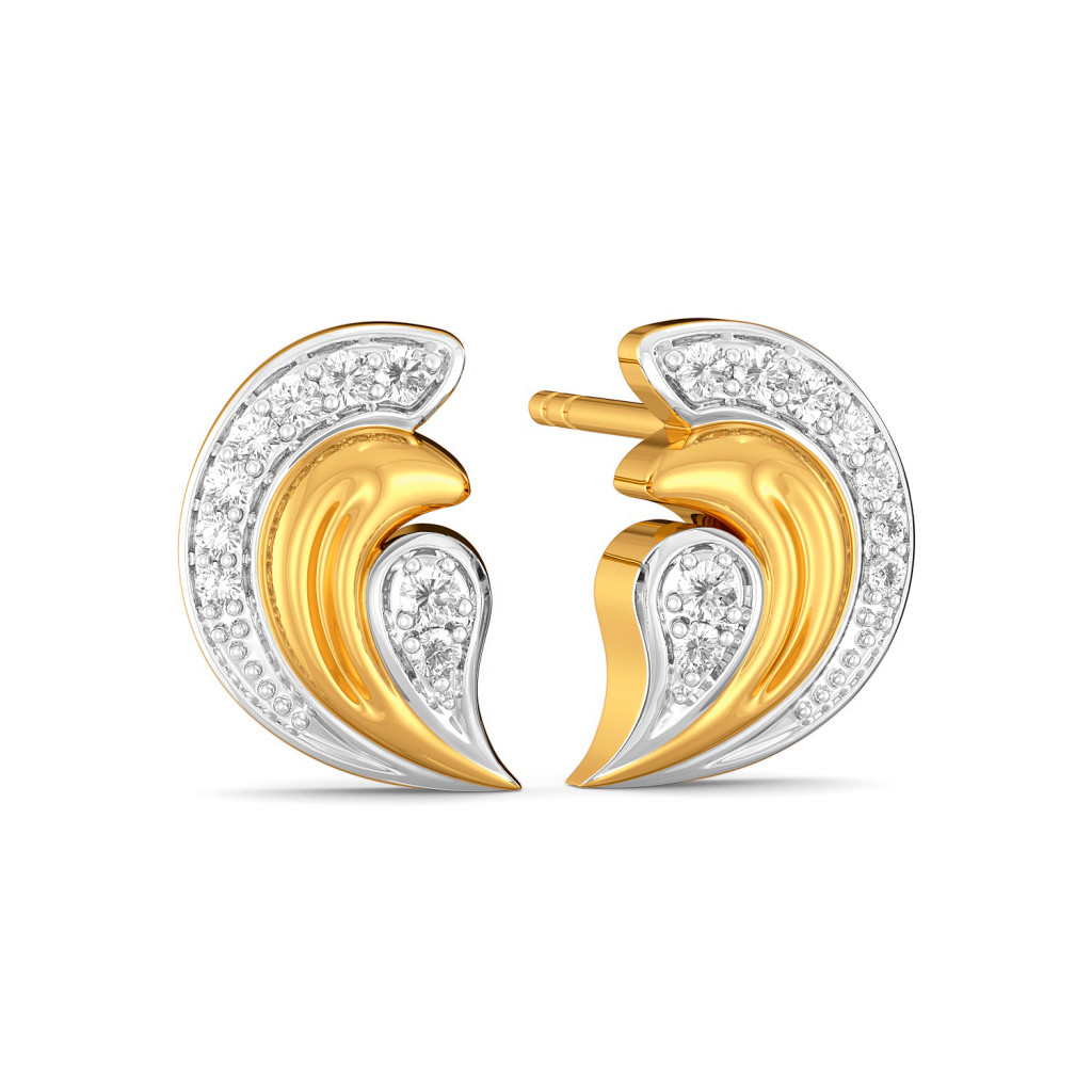 The Curly Crest Diamond Earrings