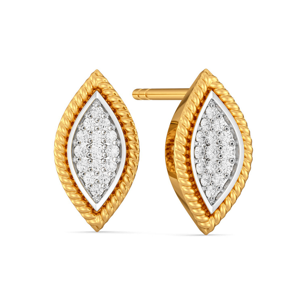 Pave the Concave Diamond Earrings