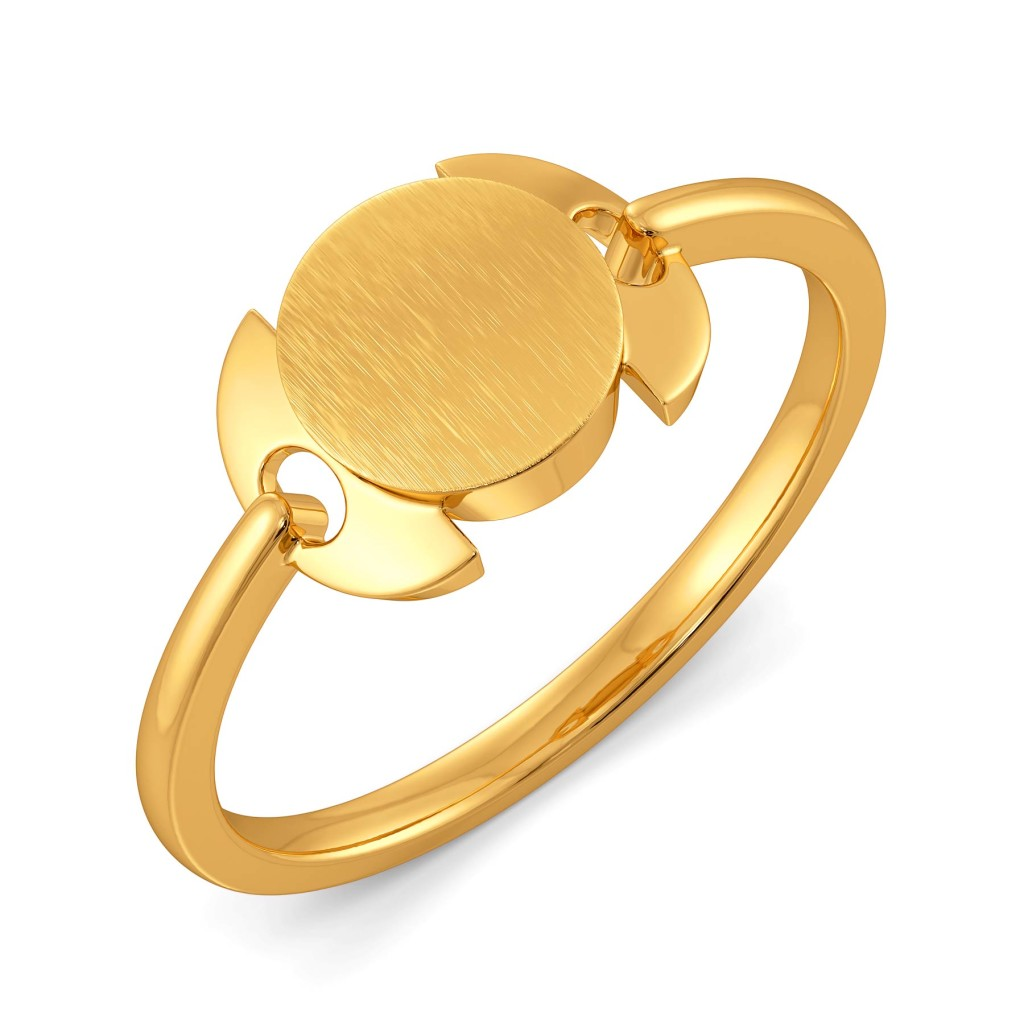 Sequin in Progress Gold Rings
