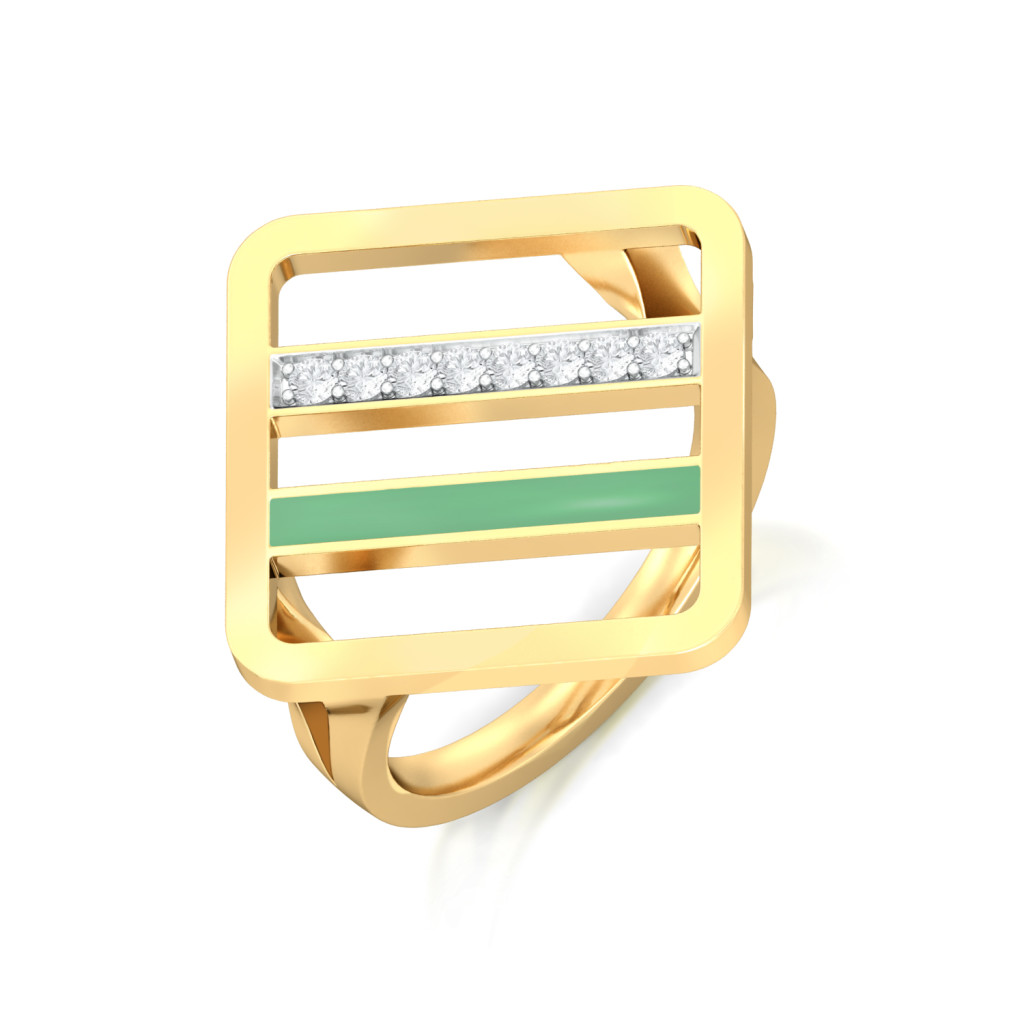 Hint Of Mint Diamond Rings