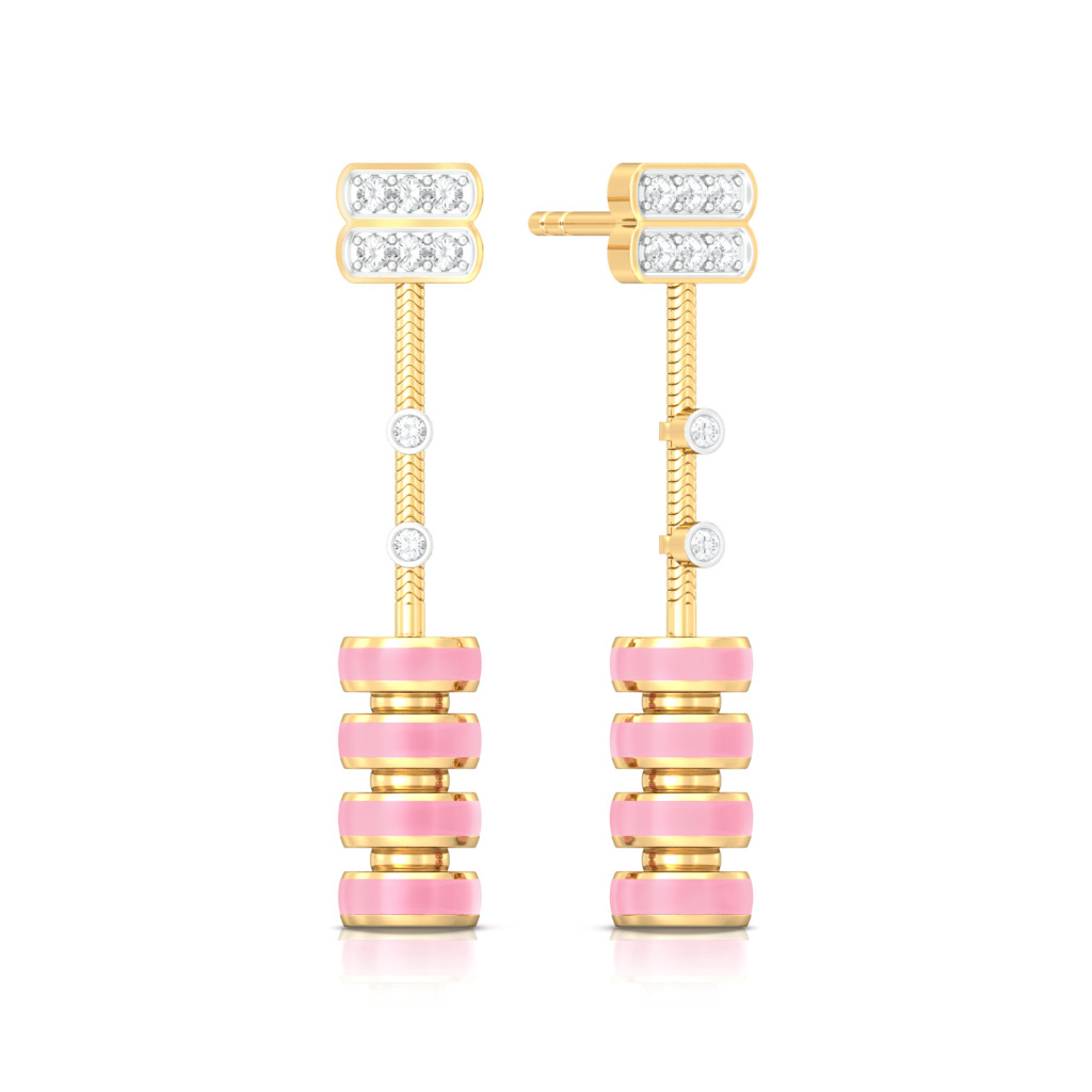 Chimes Effect Diamond Earrings