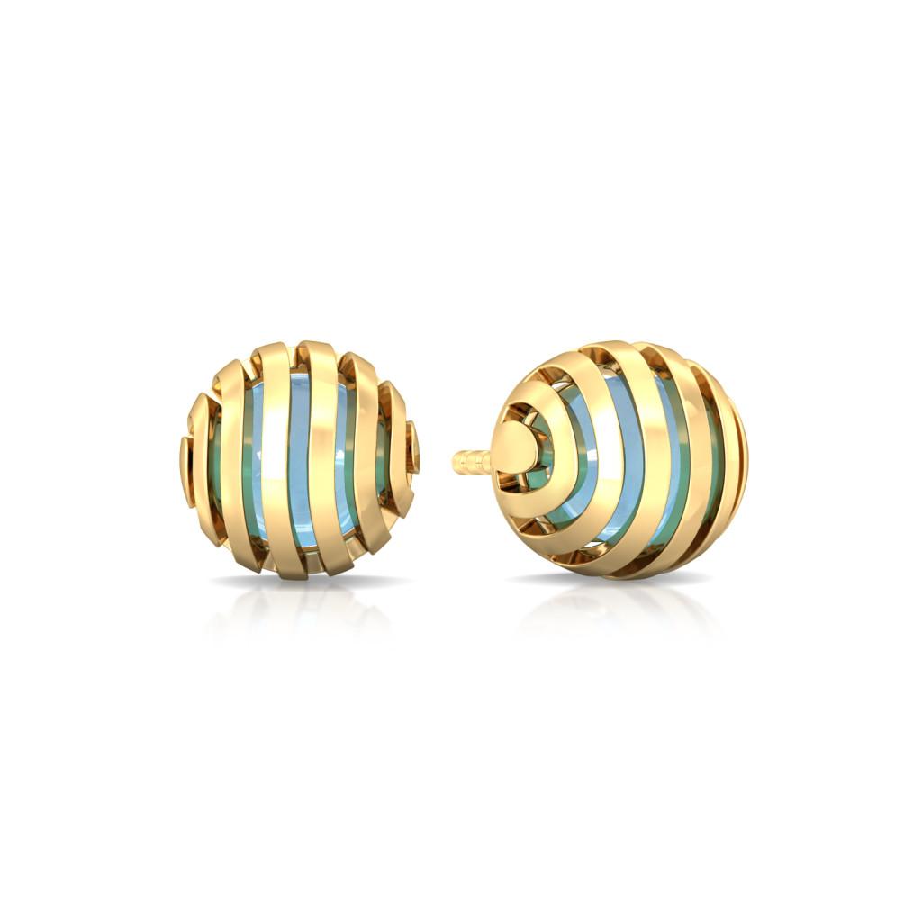 Wavy Blue Gemstone Earrings