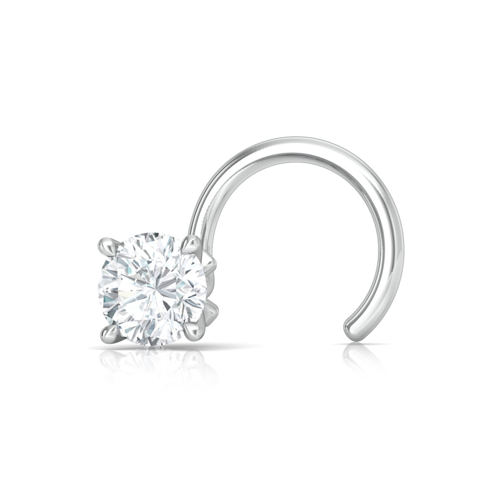 Sassy Solitaire Diamond Nose Pins