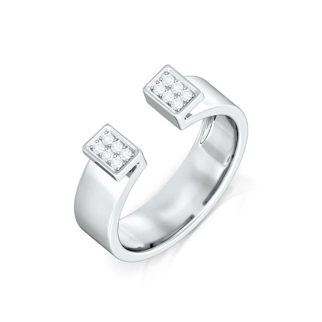 White collar Diamond Rings