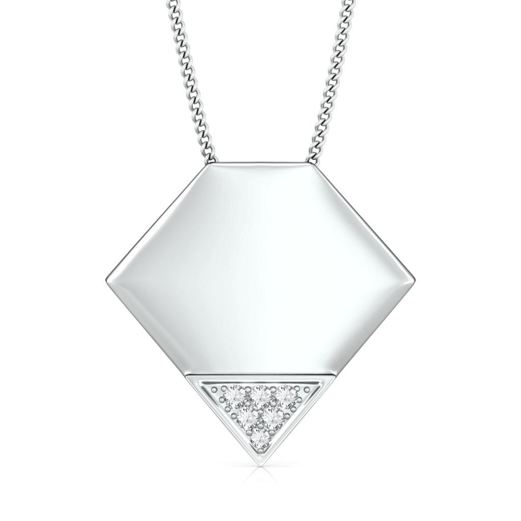 Polygon Diamond Pendants