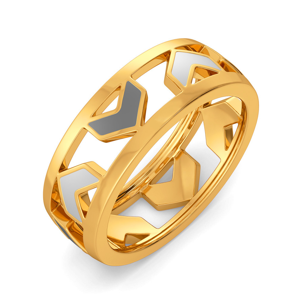 Decked At Desk Gold Rings