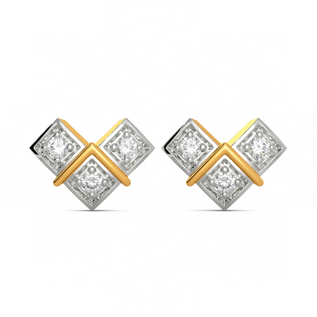 Trey Tide Diamond Earrings