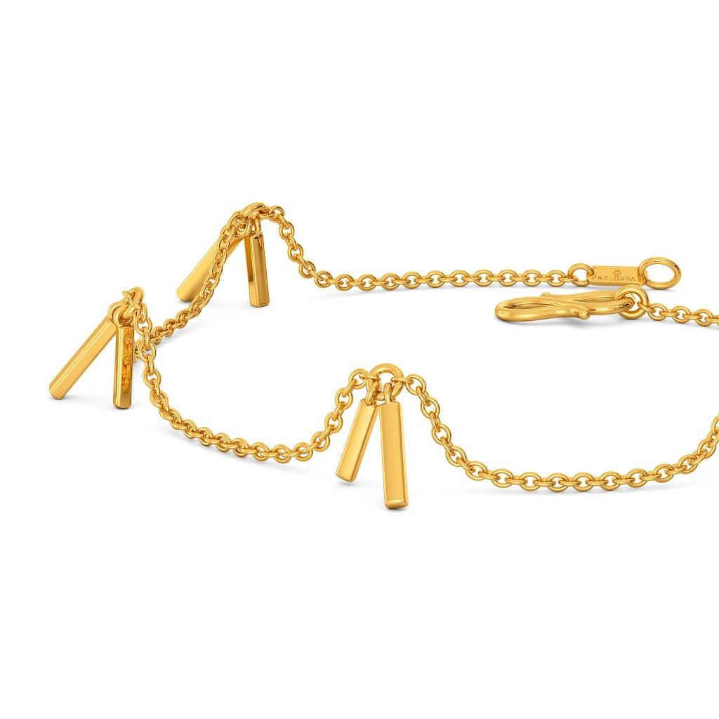 Fringe Bouquet  Gold Bracelets