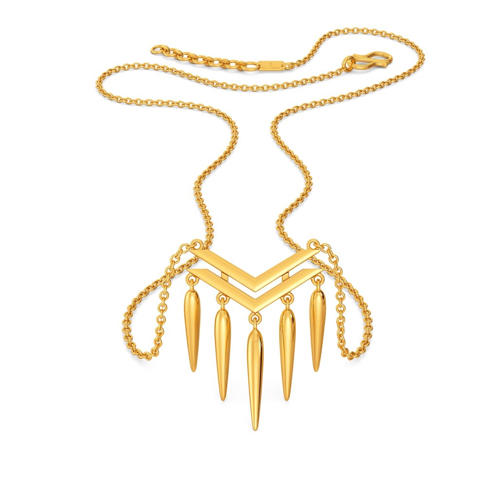 Fabulously Fringe Gold Necklaces