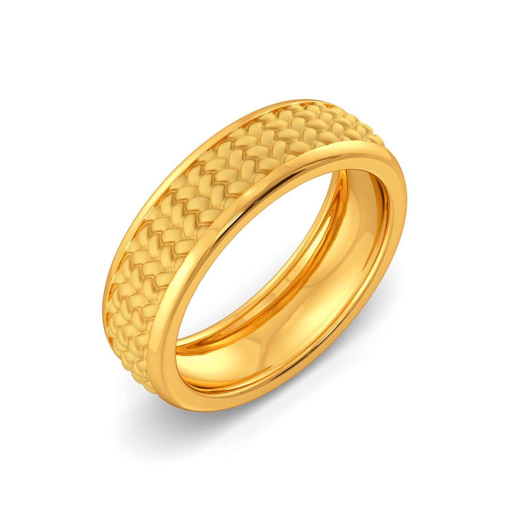 The Herringbone Gold Rings