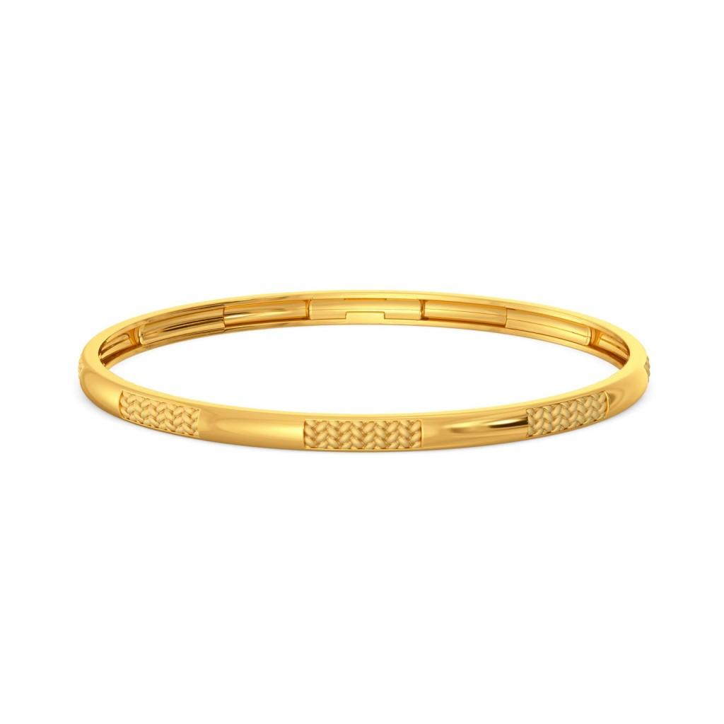 Peek A Weave Gold Bangles