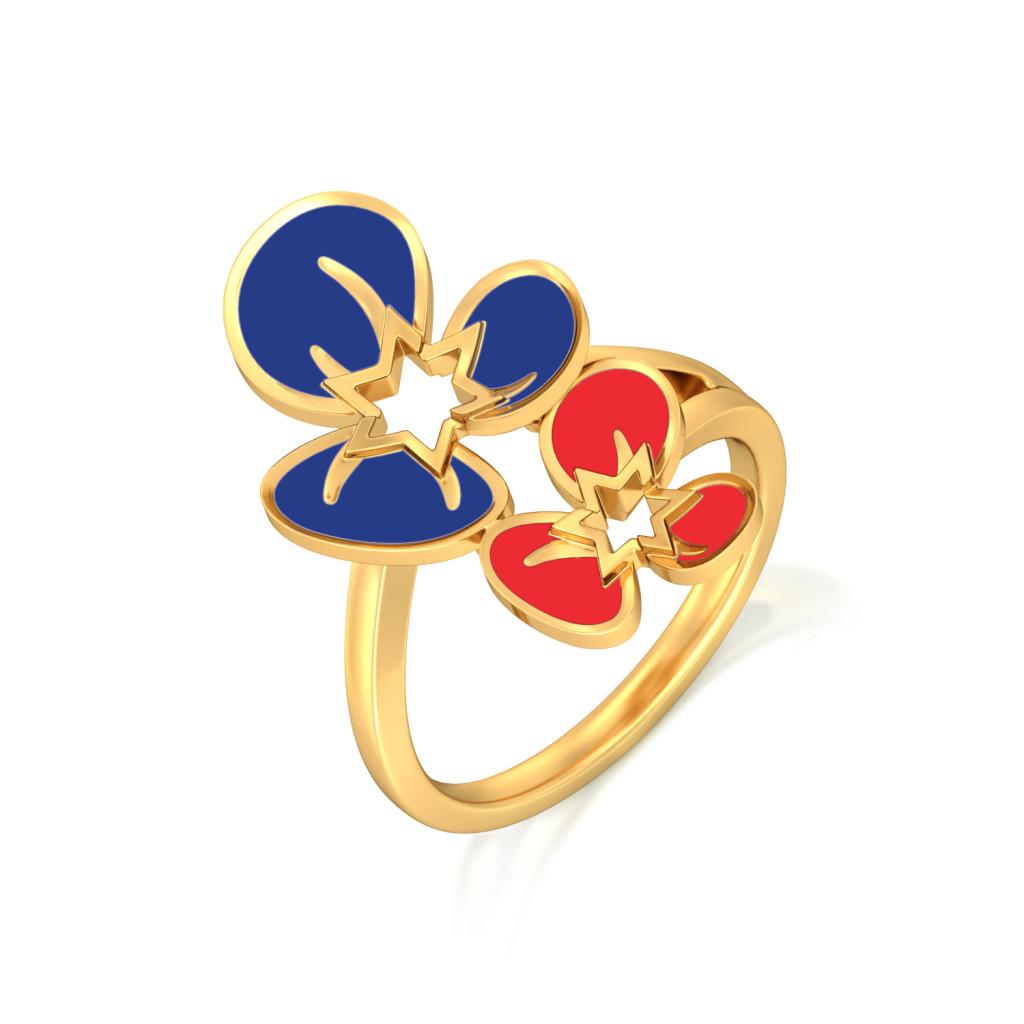 Flamboyant Florals Gold Rings