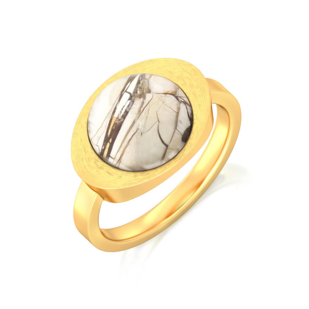 Rustic White Gemstone Rings
